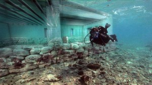 Submerged ancient city of Pavlopetri