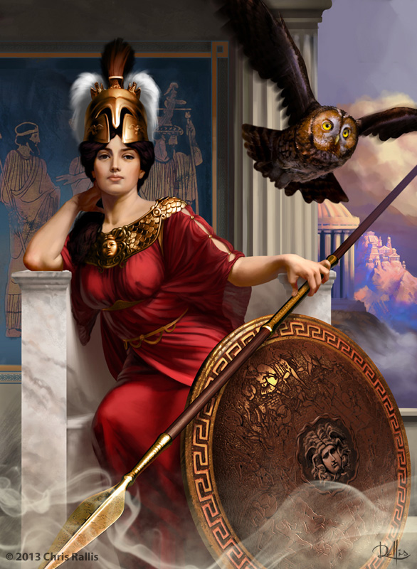 Goddess Athena. Greek Mythology