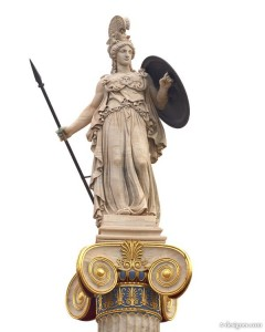 Goddess Athena the patron of Athens