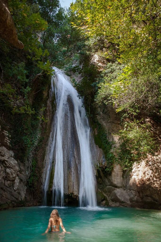 waterfall nedas greece