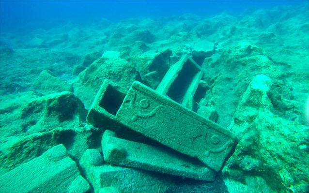 Shipwrecks in the waters of the heart-shaped island in Greece